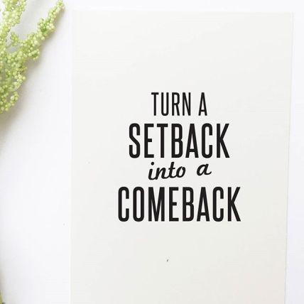 turn a set back into a come back